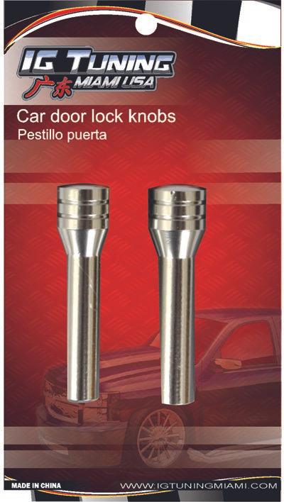 2 Pcs Car Door Lock Knobs Clear