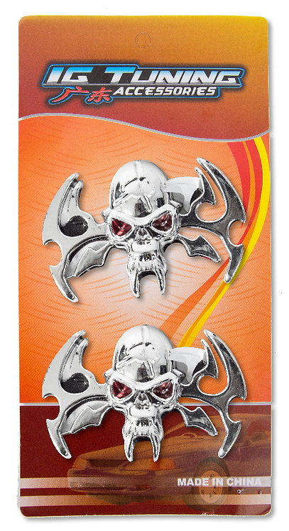 Emblem skull Red Eye 2 Pcs