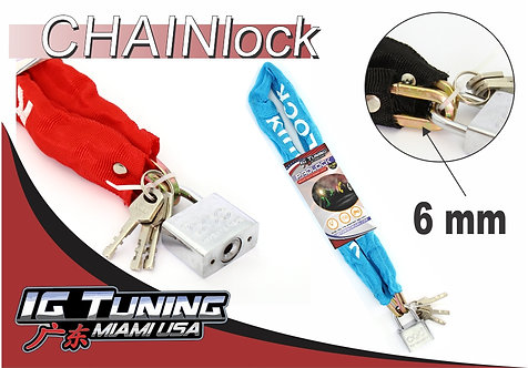 Motorcycle Chain Lock with cover 6mm