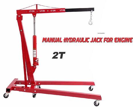 2 ton manual hydraulic jack engine hoist crane