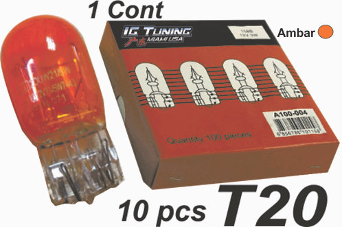 One Contac T20 Ambar Glass Bulb  10 Pcs