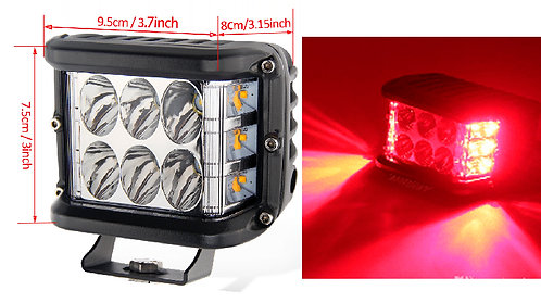 Moto LED two Colors White -Red