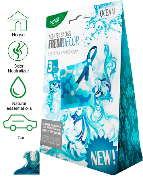 Fresh Decor Sachetes Ocean 3x10ml