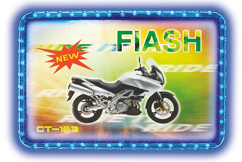 Motorcycle Licence Neon Frame Blue