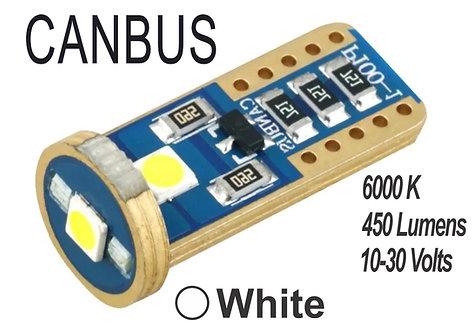 T10 LED 3 Led Canbus 2 pcs White