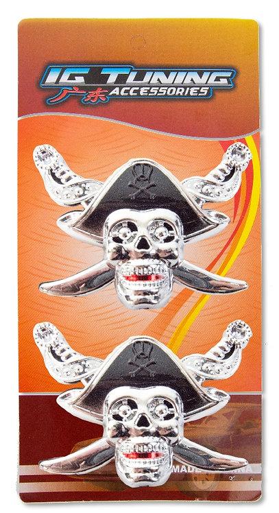 Emblem Skull Black Hat 2 Pcs