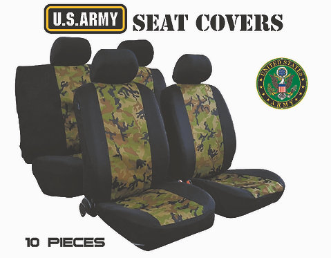 Seat Cover Military 10 pcs Green Olive