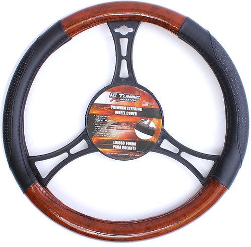 Steering cover intercontinental Black-Wood