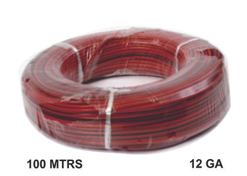 Cable Wire 100 Mtrs Copper 12 Ga Red Black