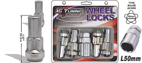 Acorn Mag L50 Wheel Lock 14x1.5 6Pcs