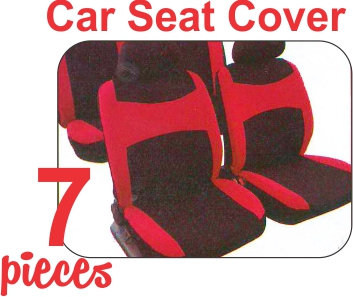 Seat Cover Kit Black Red