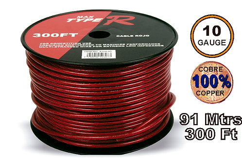 Free O2 Cable 91 mtrs 10GA Red