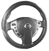 Relief Seam Steering Wheel Cover Black