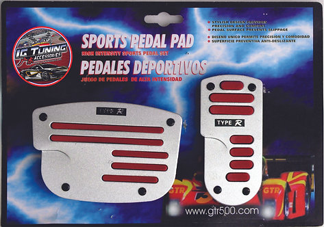 Automatic Pedal Pad Flat Red