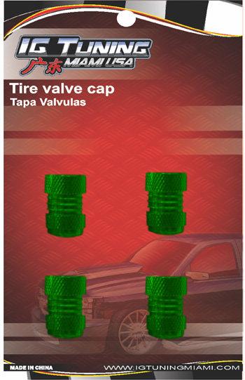 Green 4Pcs.Set Valve Caps.