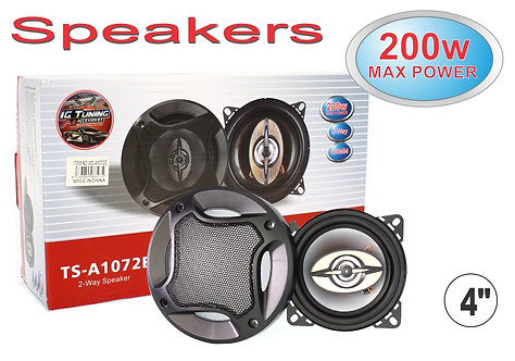 "Speakers 4"" 200W 2 Pcs"