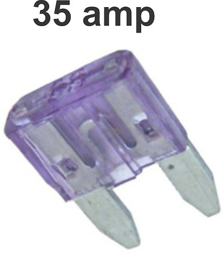 35 Amps Mini  Fuse 100 Pcs