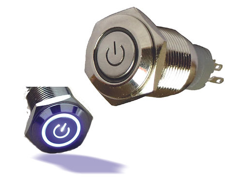 Metal Switch with Blue Light