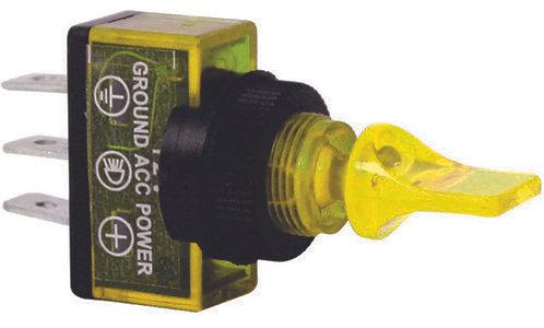 Small Yellow Switch W/Light