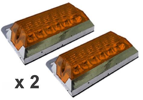 2 Pcs Rectangular Stop 8.5X7.5 Yellow