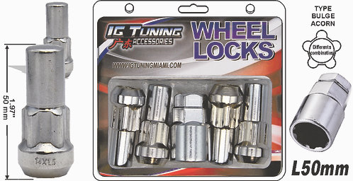 Acorn Mag L50 Wheel Lock 9/16 6 Pcs