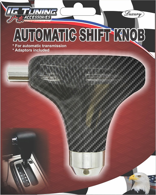 Automatic gear shifter knob with button Carbon