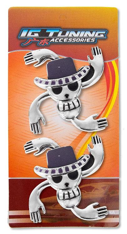 Emblem Skull 4 hands 2 Pcs