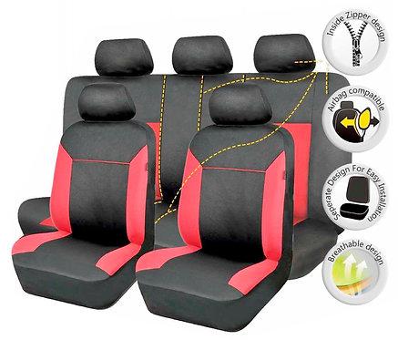Seat Cover Poseidon 10Pcs Red-Black
