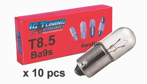 Bulb T8.5 12V 4W Ba9S 10 pcs