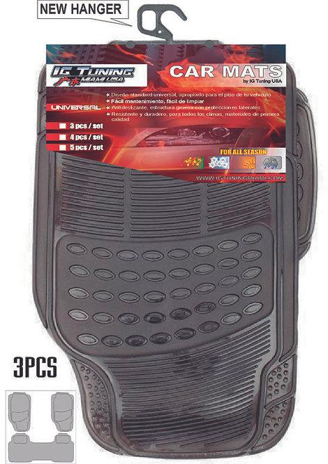Car Mat Adjustable 3 Pcs Clear Smoke