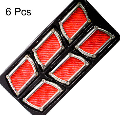 Air Flow 6 Pcs Square Red