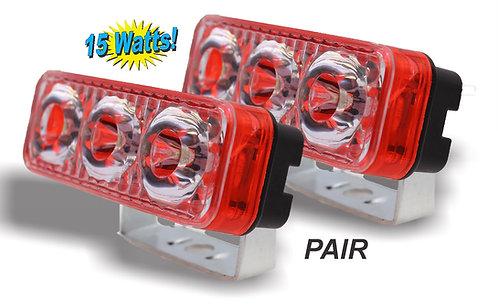 Fog Light 3 LEDs phosphorecent 2 pcs