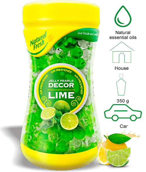 Jelly Pearls Decor Lime 350ml