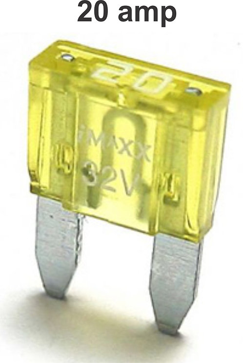20 Amps Mini Fuse 100 Pcs