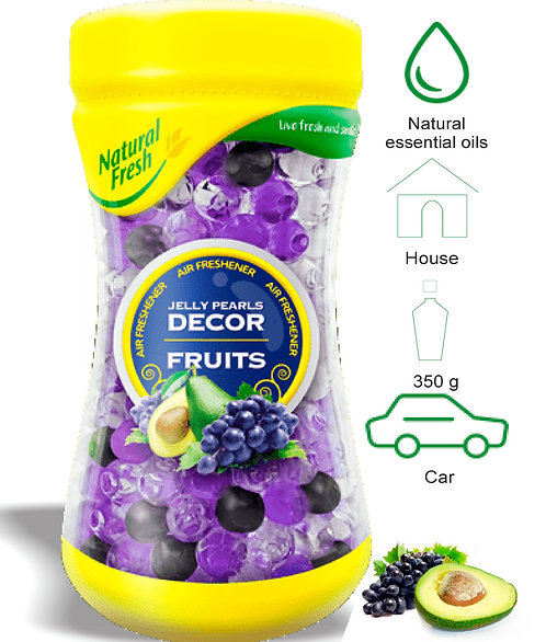 Jelly Pearls Decor Fruits 350ml