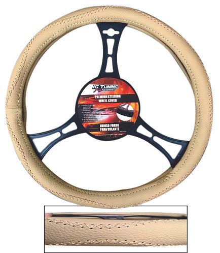 Steering Wheel Cover Handmade Beige