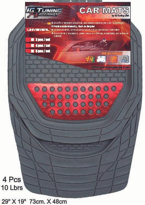 Car Mats Mod.Xcalibur Gray-Red
