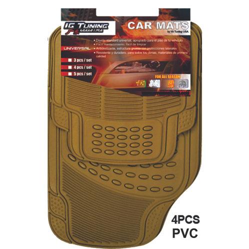Pvc  Floor Mat Pvc Adjustable Beige  4 Pcs