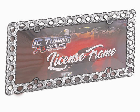 License Frame Plastic Rings Chrome