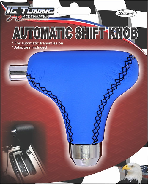Automatic gear shifter knob with button Blue