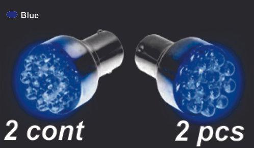 Double.Cont Blue 12Led Bulb  (2Pcs Sets)