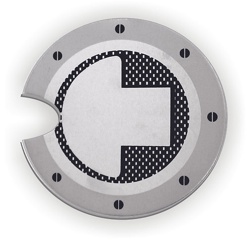 Gas Cap Emblem round with cut