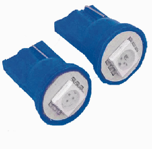 T10 Photo LED Blue 2 pcs