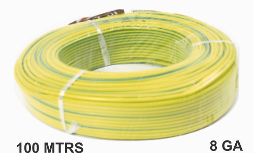 Cable Wire 100 Mtrs Alum Yellow Grn