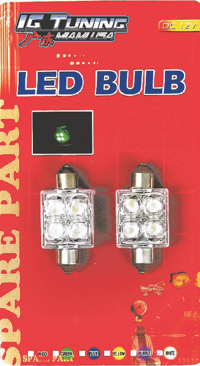 Roof light 4 LED Red 2 pcs