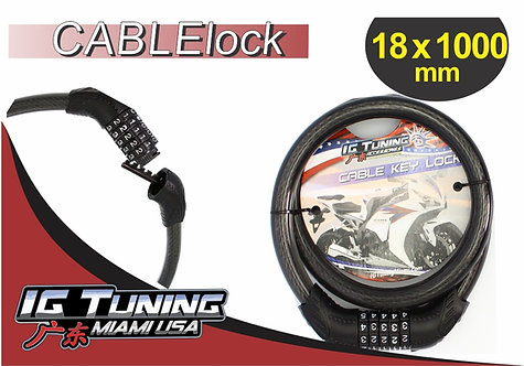 Motorcycle Cable Lock 5 combination 18x100