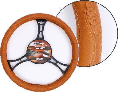 Steering Wheel Cover Curves Brown