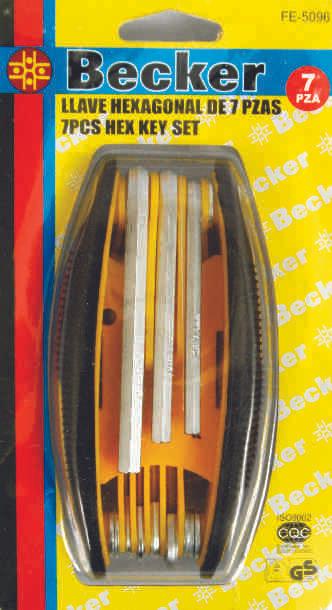 Hexagonal Key Set 7 pcs