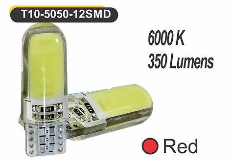 T10 LED 6 GelED 2 pcs Red