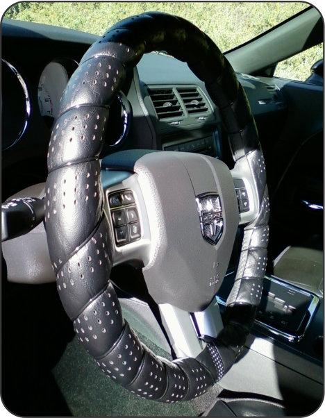 Wrap Around Steering Wheel Gray